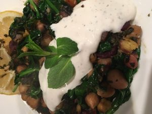 Chickpea saute recipe